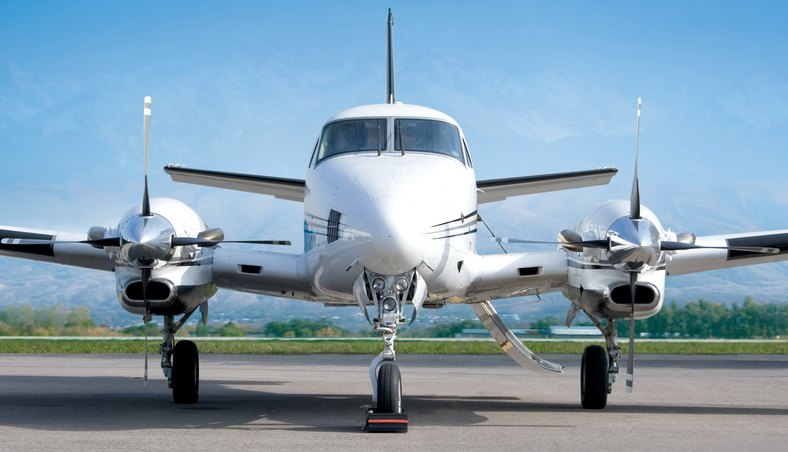 Arrive by turboprop aircraft