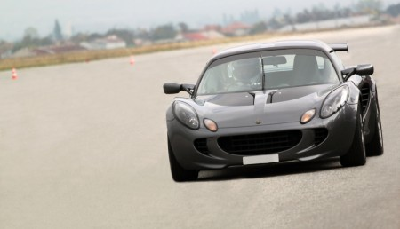 Sliven, Bulgaria – October 18, 2015: Lotus Elise - drag race challenge at Sliven, Bulgaria. The car is participating in the Sliven Drag Racing 2015.
